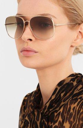 Женские солнцезащитные очки OLIVER PEOPLES светло-коричневого цвета, арт. 1272S-50358E   Фото 2