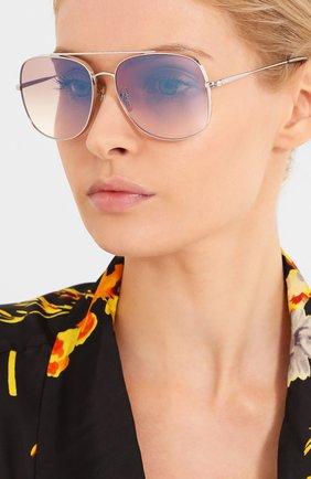 Женские солнцезащитные очки OLIVER PEOPLES сиреневого цвета, арт. 1272S-5036K3 | Фото 2