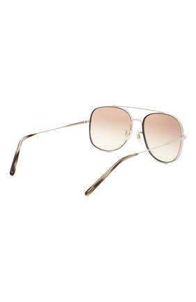 Женские солнцезащитные очки OLIVER PEOPLES сиреневого цвета, арт. 1272S-5036K3 | Фото 4