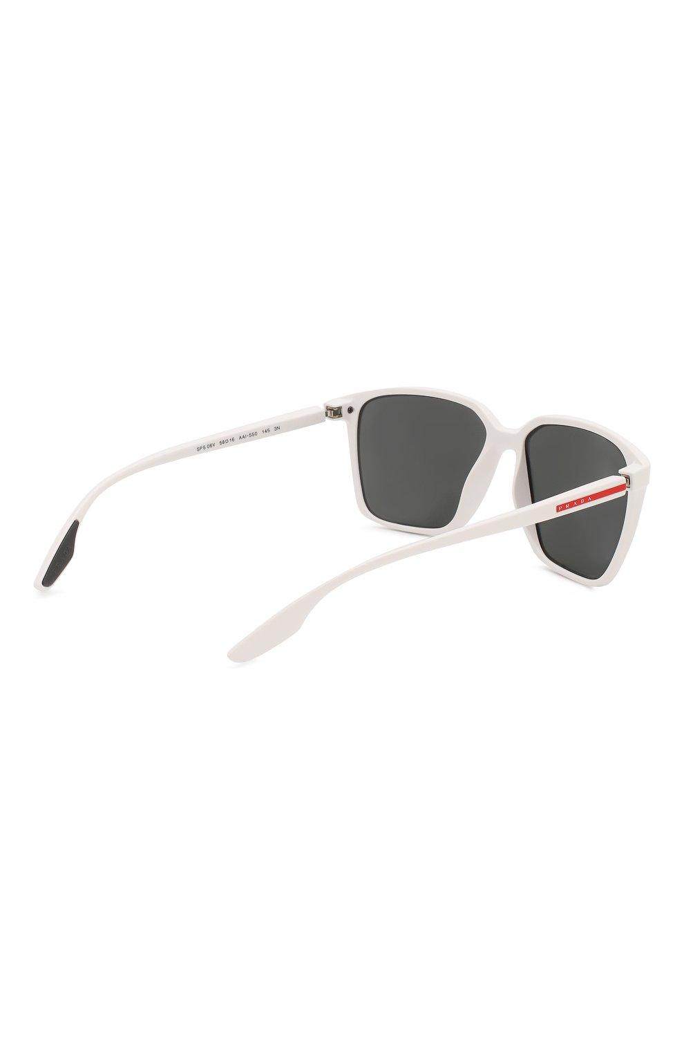 Женские солнцезащитные очки PRADA LINEA ROSSA белого цвета, арт. 06VS-AAI5S0 | Фото 5