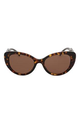 Женские солнцезащитные очки VERSACE коричневого цвета, арт. 4378-108/73   Фото 3