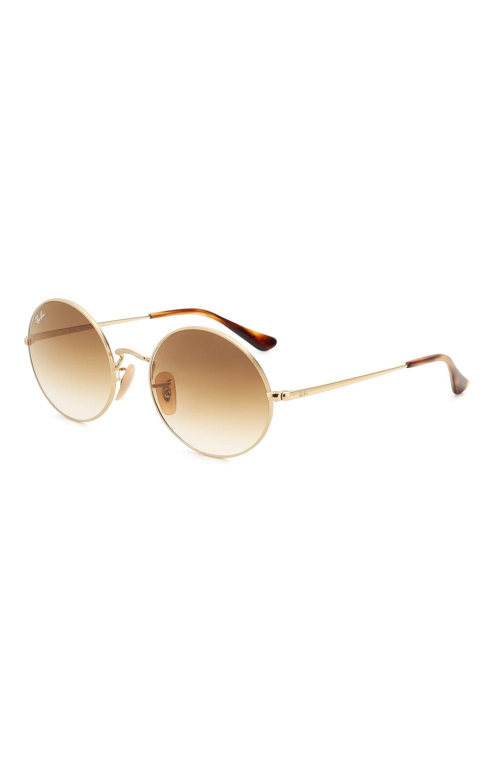 Женские солнцезащитные очки RAY-BAN коричневого цвета, арт. 1970-914751   Фото 1