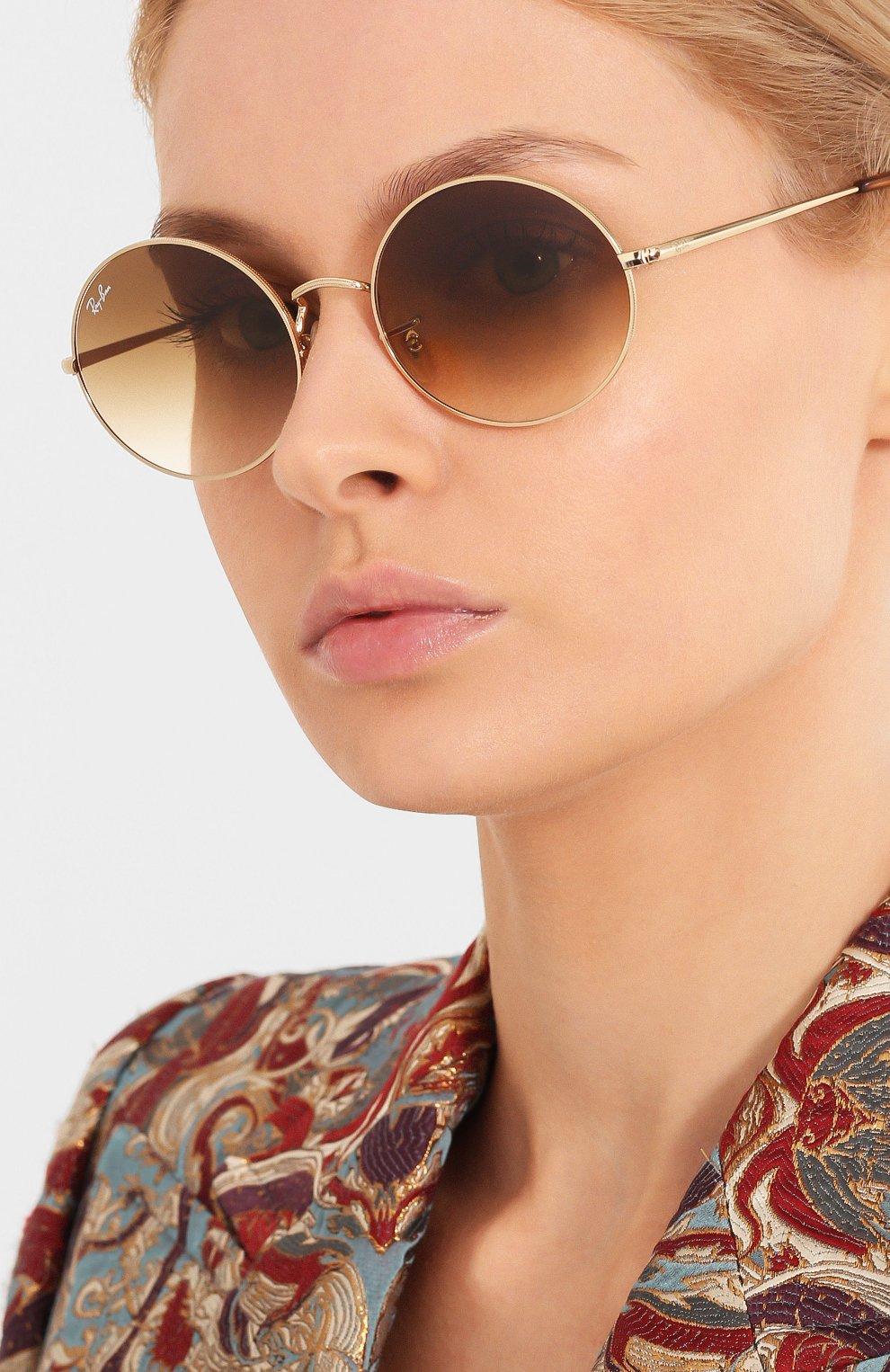 Женские солнцезащитные очки RAY-BAN коричневого цвета, арт. 1970-914751   Фото 2