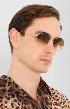 Женские солнцезащитные очки RAY-BAN коричневого цвета, арт. 1970-914751   Фото 3