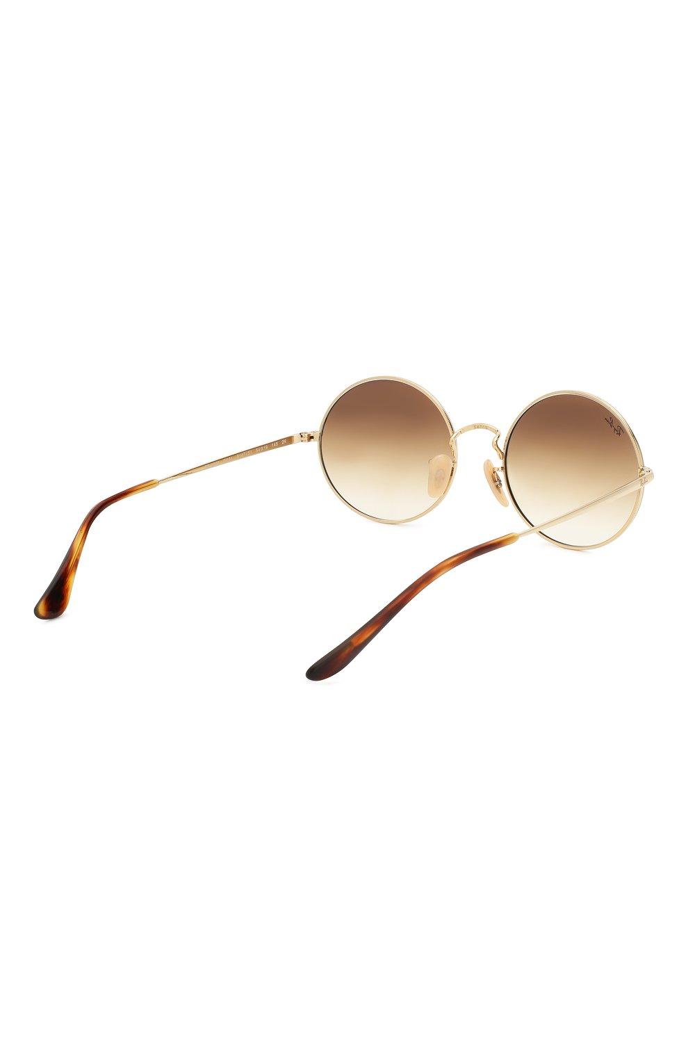 Женские солнцезащитные очки RAY-BAN коричневого цвета, арт. 1970-914751   Фото 5
