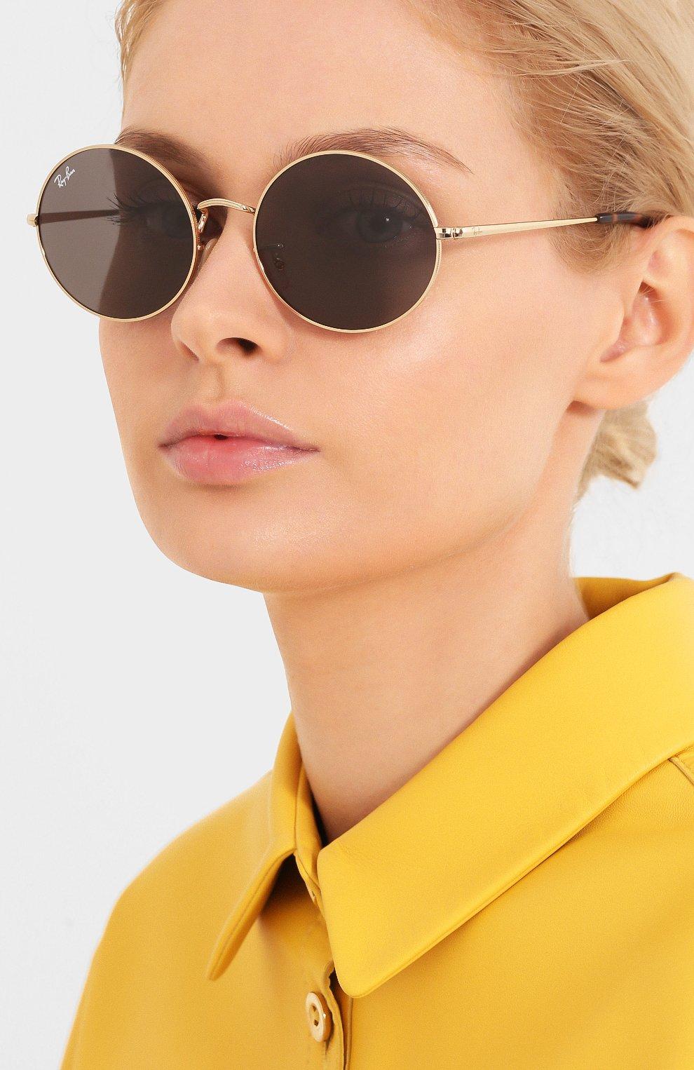 Женские солнцезащитные очки RAY-BAN серого цвета, арт. 1970-9150B1   Фото 2