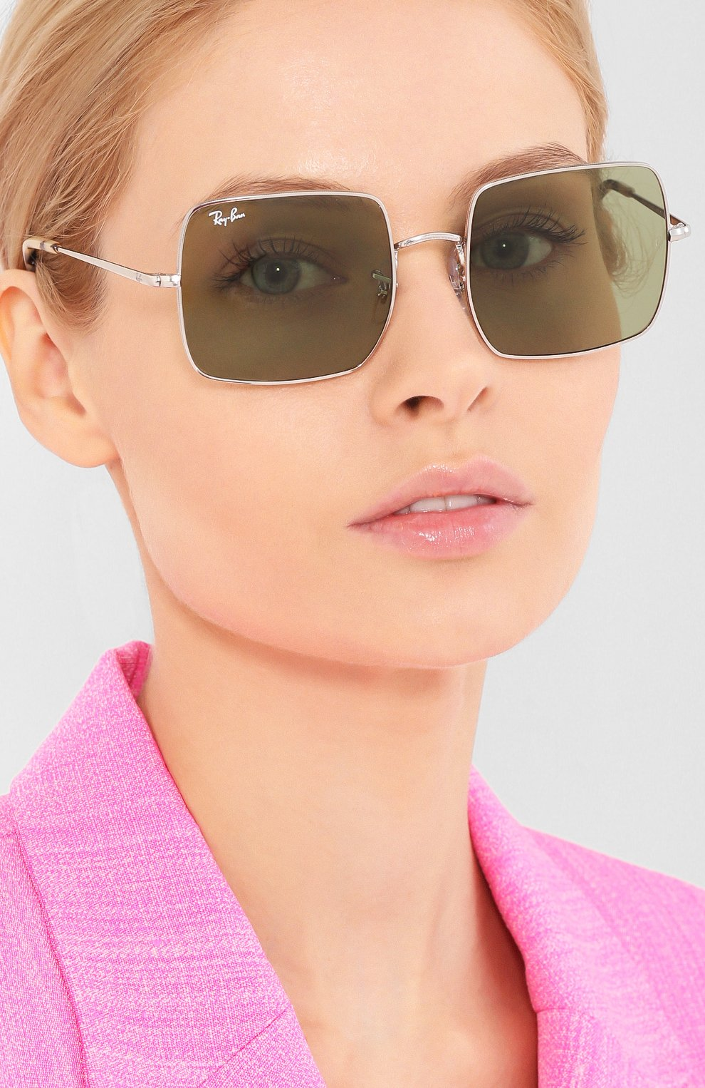 Женские солнцезащитные очки RAY-BAN зеленого цвета, арт. 1971-91974E | Фото 2