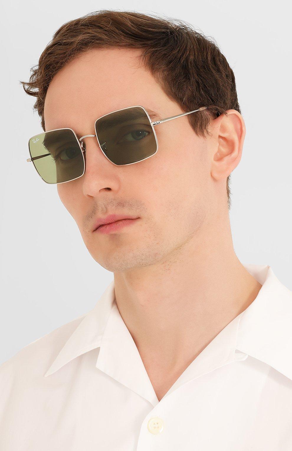Женские солнцезащитные очки RAY-BAN зеленого цвета, арт. 1971-91974E | Фото 3
