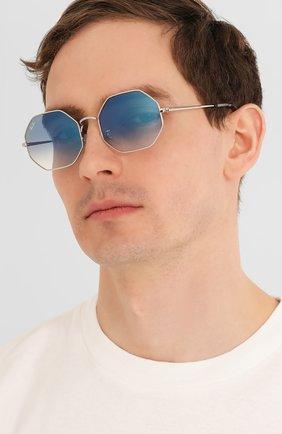 Женские солнцезащитные очки RAY-BAN голубого цвета, арт. 1972-91493F | Фото 3