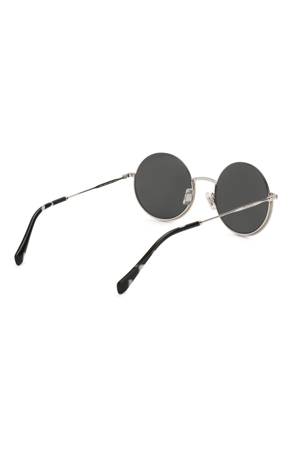 Женские солнцезащитные очки MIU MIU черного цвета, арт. 69US-1BC5S0 | Фото 4