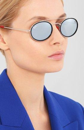 Мужские солнцезащитные очки RAY-BAN красного цвета, арт. 3847M-F03130   Фото 2