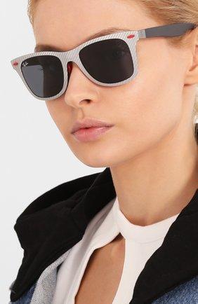 Женские солнцезащитные очки RAY-BAN серого цвета, арт. 8395M-F05687 | Фото 2