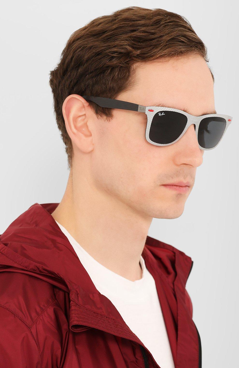 Женские солнцезащитные очки RAY-BAN серого цвета, арт. 8395M-F05687 | Фото 3