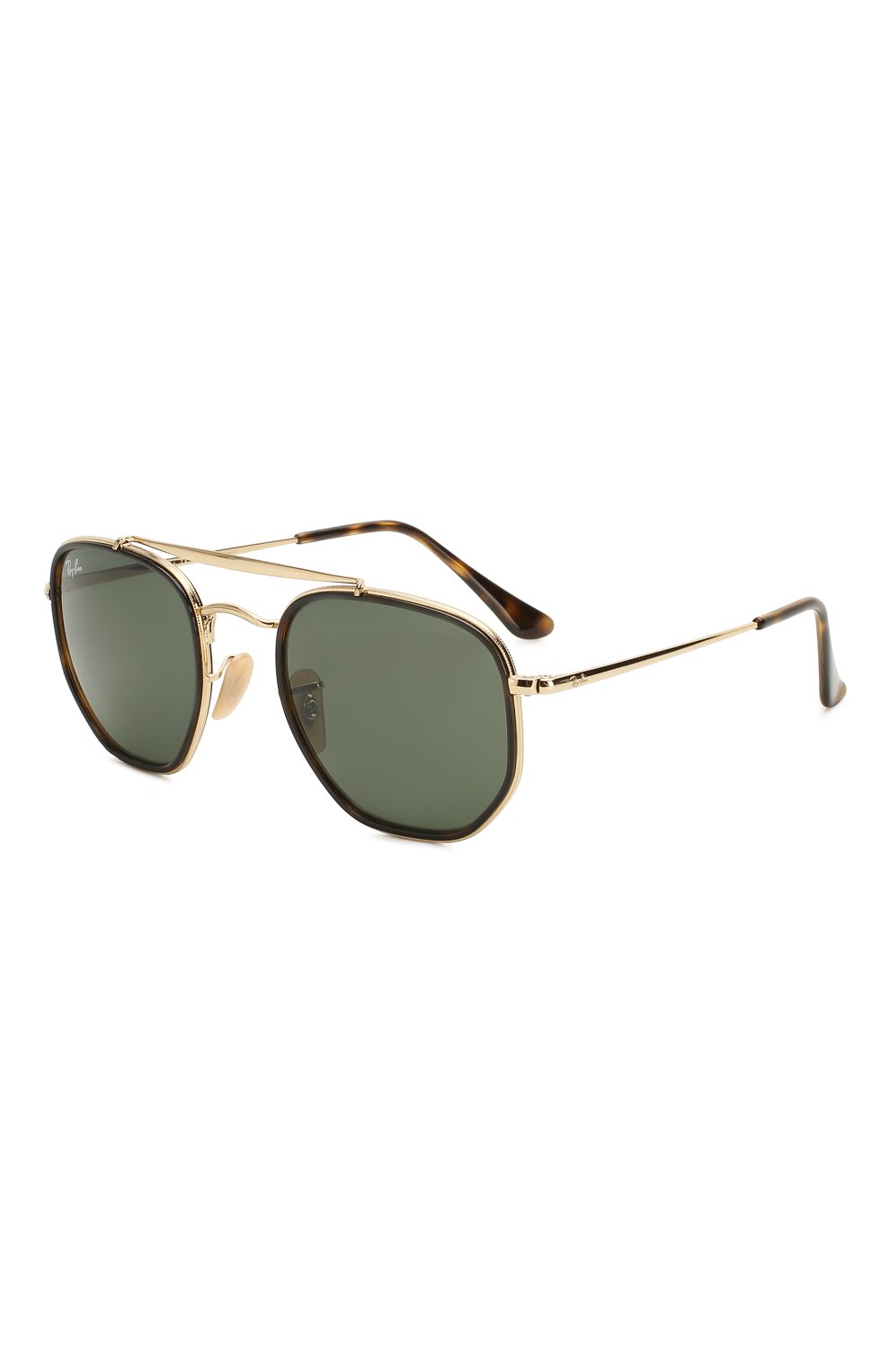 Женские солнцезащитные очки RAY-BAN темно-зеленого цвета, арт. 3648M-001 | Фото 1