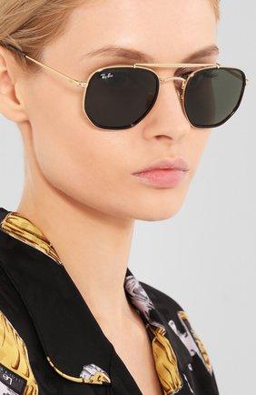 Женские солнцезащитные очки RAY-BAN темно-зеленого цвета, арт. 3648M-001 | Фото 2