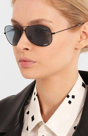 Женские солнцезащитные очки RAY-BAN черного цвета, арт. 3562-006/BA | Фото 2
