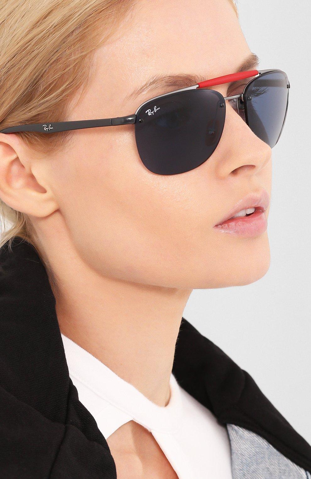 Женские солнцезащитные очки RAY-BAN синего цвета, арт. 3662M-F03780 | Фото 2