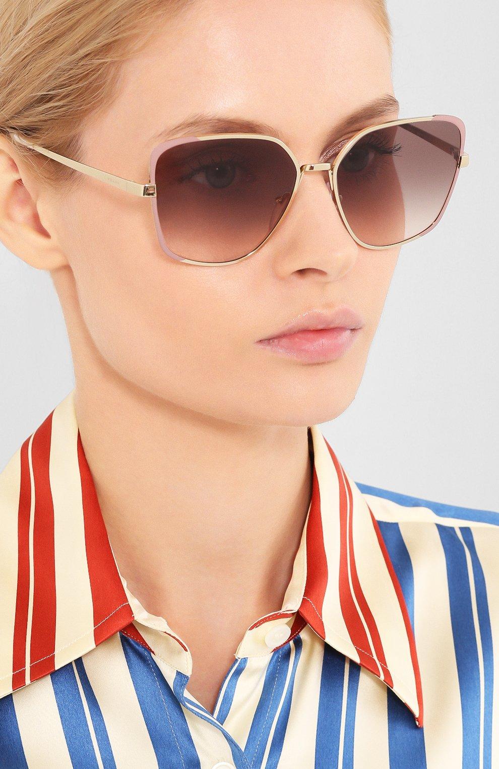 Женские солнцезащитные очки PRADA коричневого цвета, арт. 60XS-07B4K0   Фото 2
