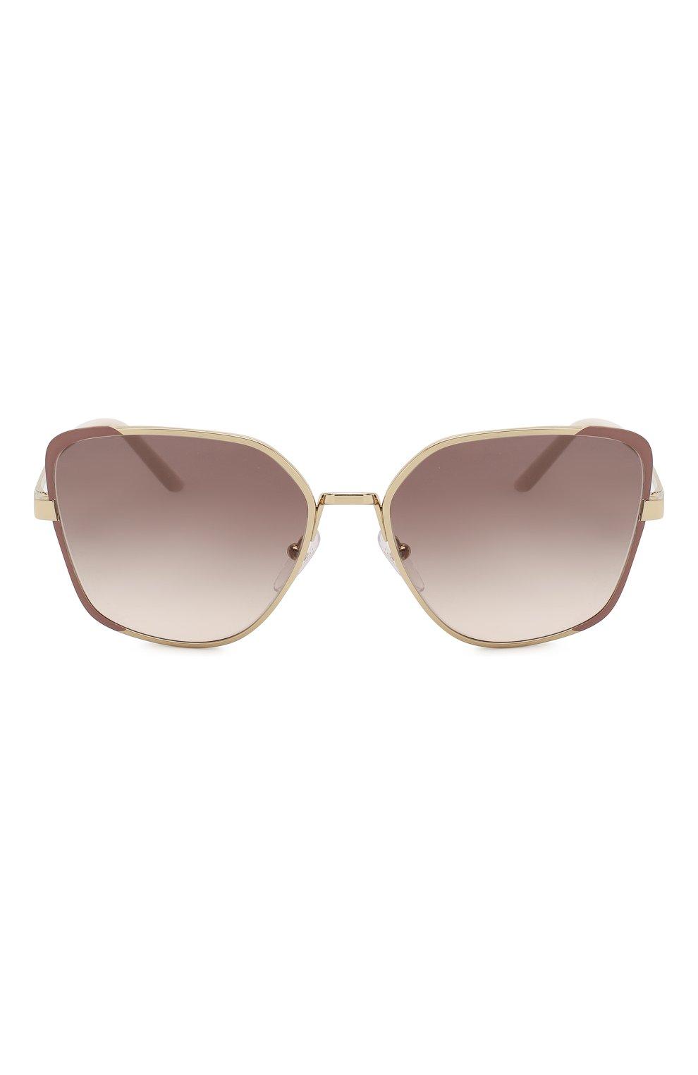 Женские солнцезащитные очки PRADA коричневого цвета, арт. 60XS-07B4K0   Фото 3