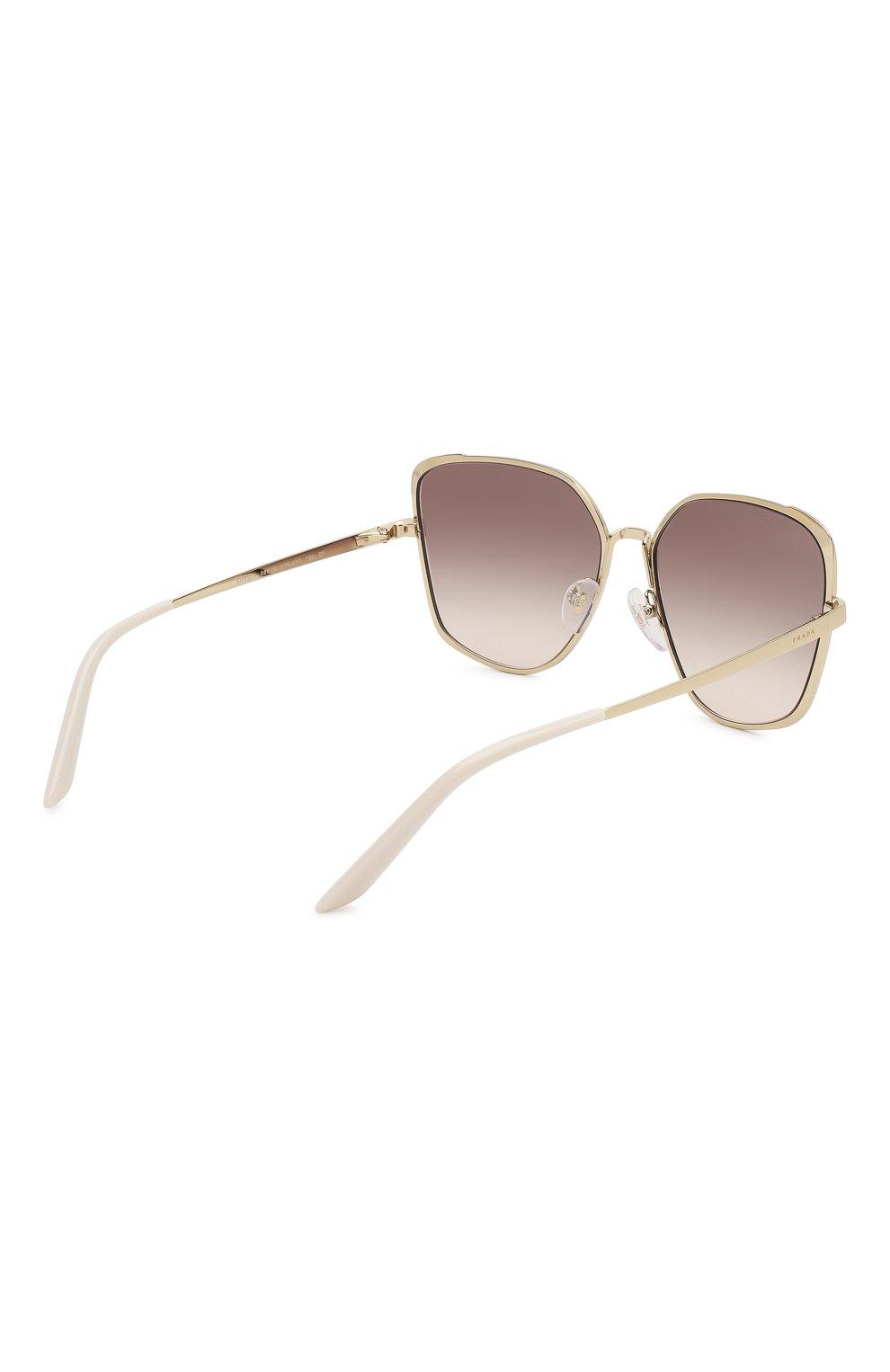 Женские солнцезащитные очки PRADA коричневого цвета, арт. 60XS-07B4K0   Фото 4