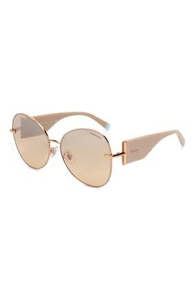 Мужские солнцезащитные очки TIFFANY & CO. бежевого цвета, арт. 3069-61483D | Фото 1