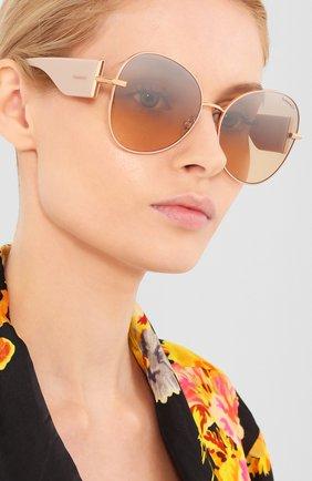 Мужские солнцезащитные очки TIFFANY & CO. бежевого цвета, арт. 3069-61483D | Фото 2
