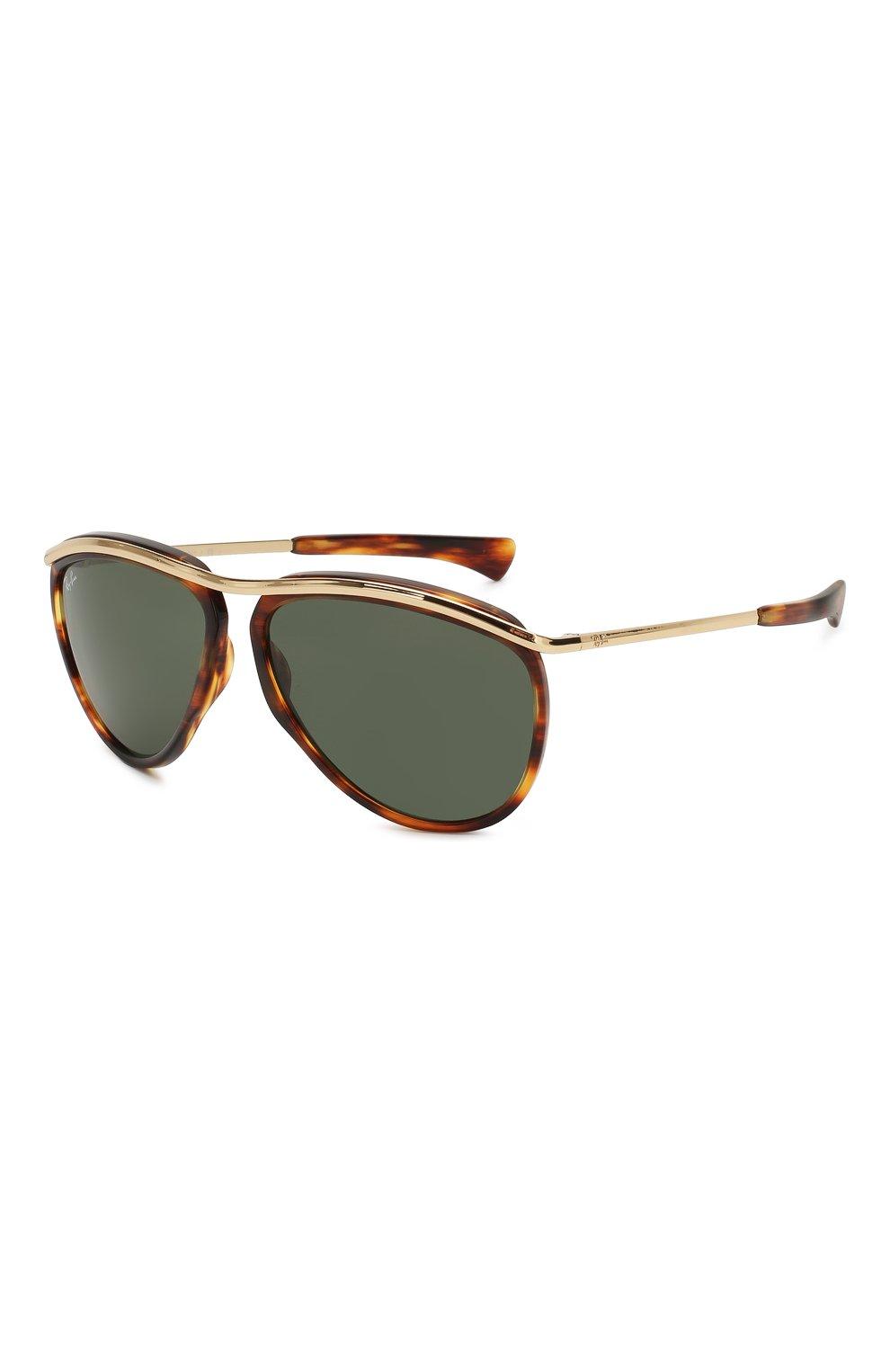 Женские солнцезащитные очки RAY-BAN коричневого цвета, арт. 2219-954/31 | Фото 1
