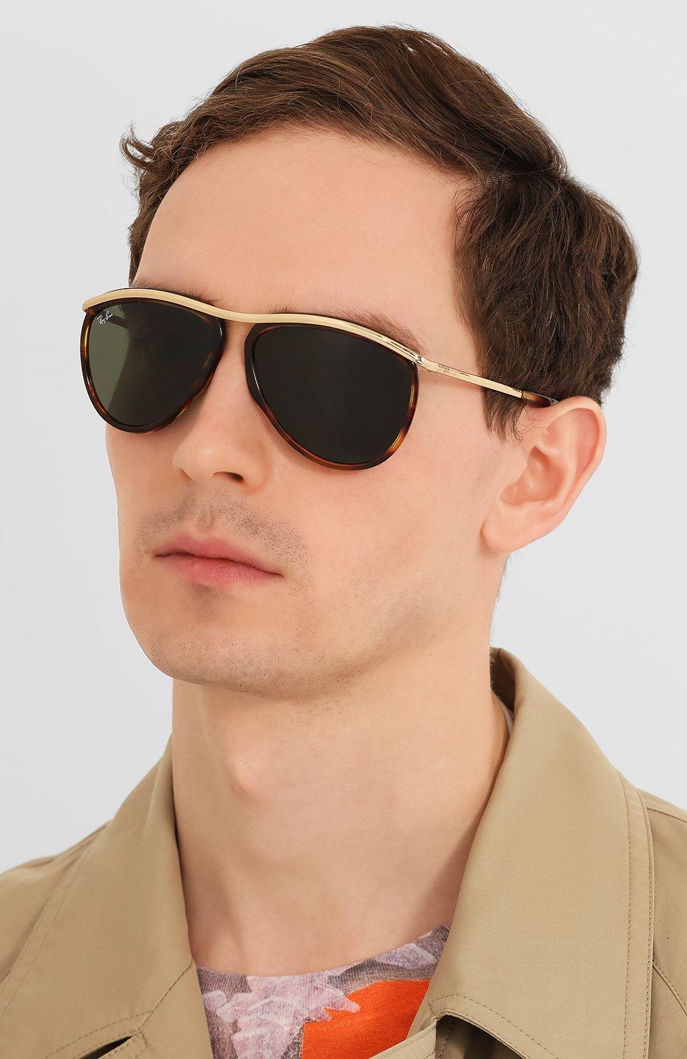 Женские солнцезащитные очки RAY-BAN коричневого цвета, арт. 2219-954/31 | Фото 3