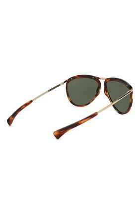 Женские солнцезащитные очки RAY-BAN коричневого цвета, арт. 2219-954/31 | Фото 5