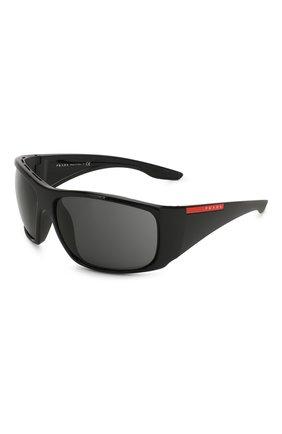 Мужские солнцезащитные очки PRADA LINEA ROSSA черного цвета, арт. 04VS-1AB5S0   Фото 1