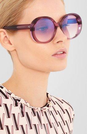 Женские солнцезащитные очки OLIVER PEOPLES фиолетового цвета, арт. 5426SU-1691H9   Фото 2