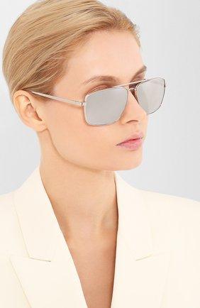 Женские солнцезащитные очки VERSACE серого цвета, арт. 2216-10006G | Фото 2