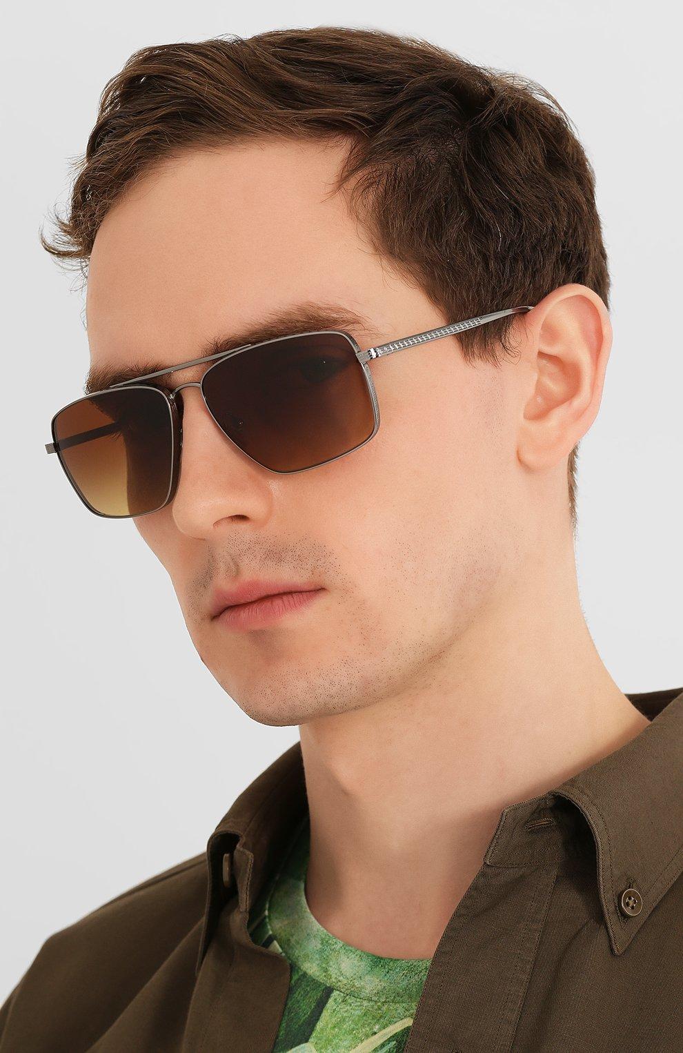 Женские солнцезащитные очки VERSACE коричневого цвета, арт. 2216-100113   Фото 3