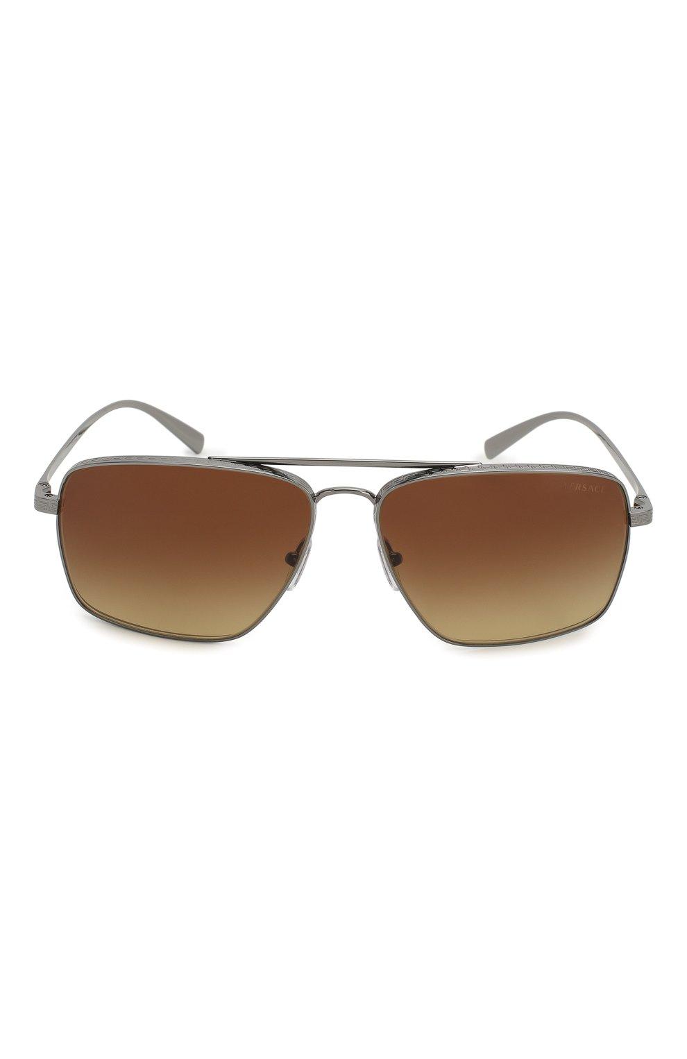 Женские солнцезащитные очки VERSACE коричневого цвета, арт. 2216-100113   Фото 4