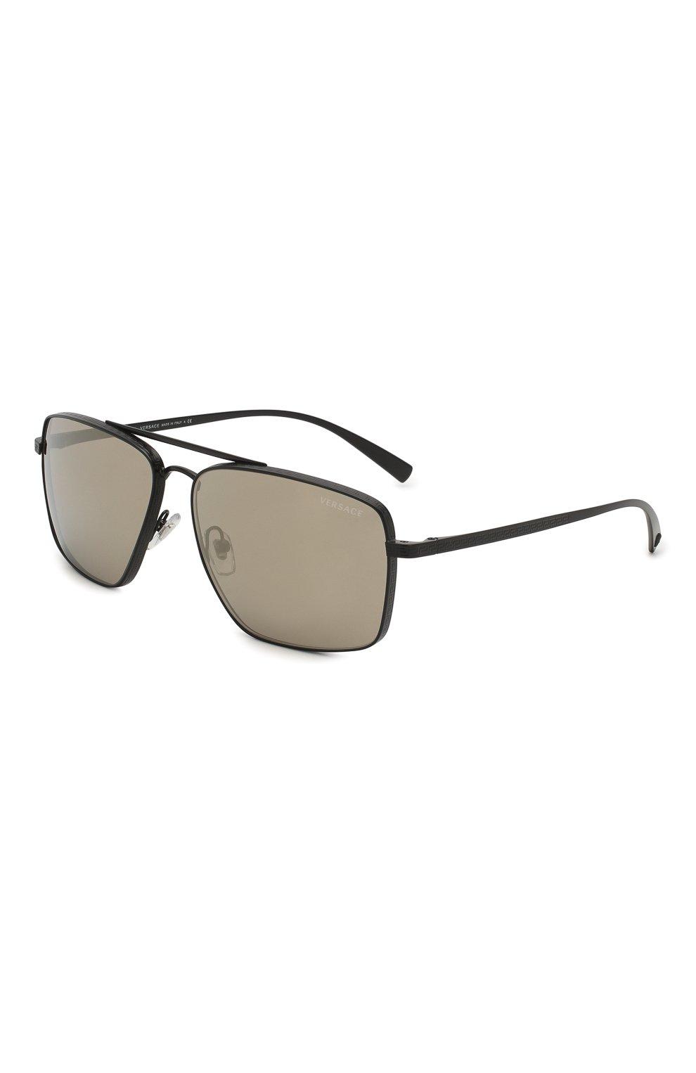 Женские солнцезащитные очки VERSACE серого цвета, арт. 2216-12615A | Фото 1