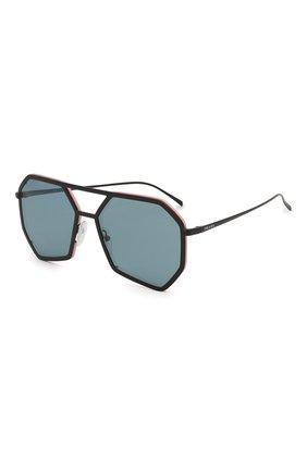 Мужские солнцезащитные очки PRADA черного цвета, арт. 62XS-1B004B   Фото 1