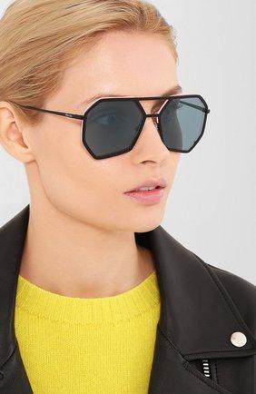 Мужские солнцезащитные очки PRADA черного цвета, арт. 62XS-1B004B   Фото 2