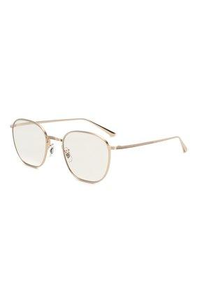 Мужские солнцезащитные очки OLIVER PEOPLES золотого цвета, арт. 1230ST-52921W | Фото 1