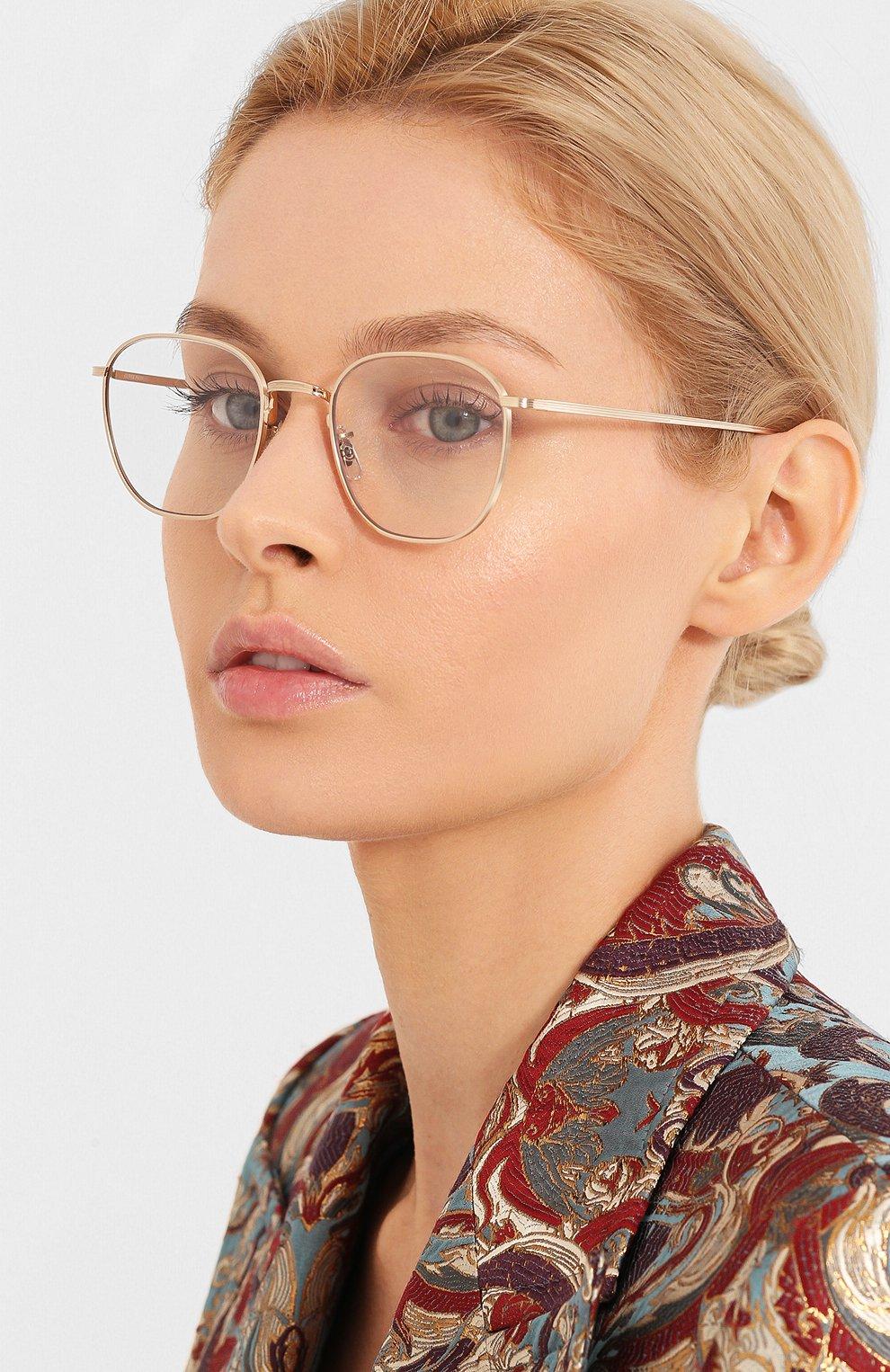 Женские солнцезащитные очки THE ROW X OLIVER PEOPLES золотого цвета, арт. 1230ST-52921W   Фото 2 (Тип очков: С/з; Очки форма: Круглые; Оптика Гендер: оптика-унисекс)