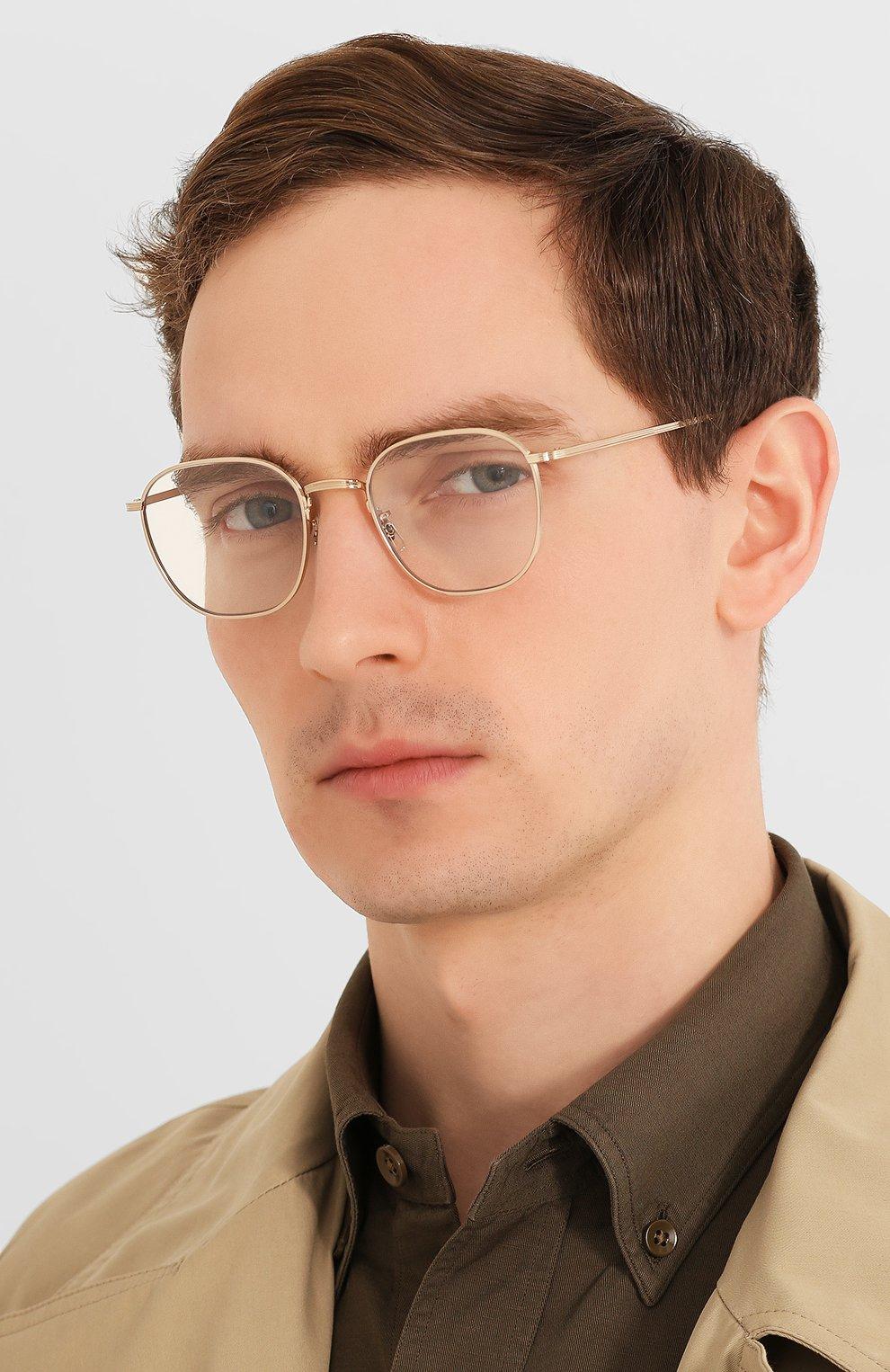 Женские солнцезащитные очки THE ROW X OLIVER PEOPLES золотого цвета, арт. 1230ST-52921W   Фото 3 (Тип очков: С/з; Очки форма: Круглые; Оптика Гендер: оптика-унисекс)