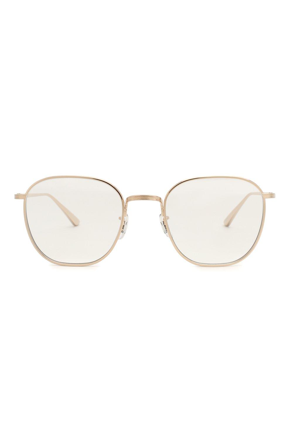 Женские солнцезащитные очки THE ROW X OLIVER PEOPLES золотого цвета, арт. 1230ST-52921W   Фото 4 (Тип очков: С/з; Очки форма: Круглые; Оптика Гендер: оптика-унисекс)