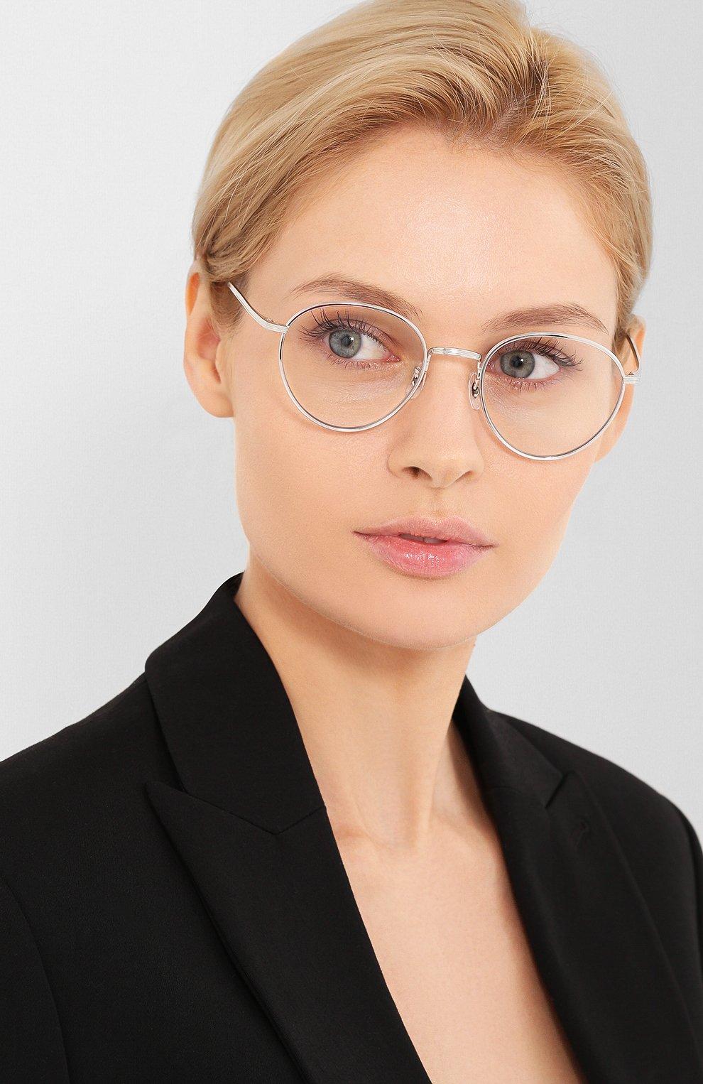 Женские солнцезащитные очки OLIVER PEOPLES серебряного цвета, арт. 1231ST-50361W   Фото 2