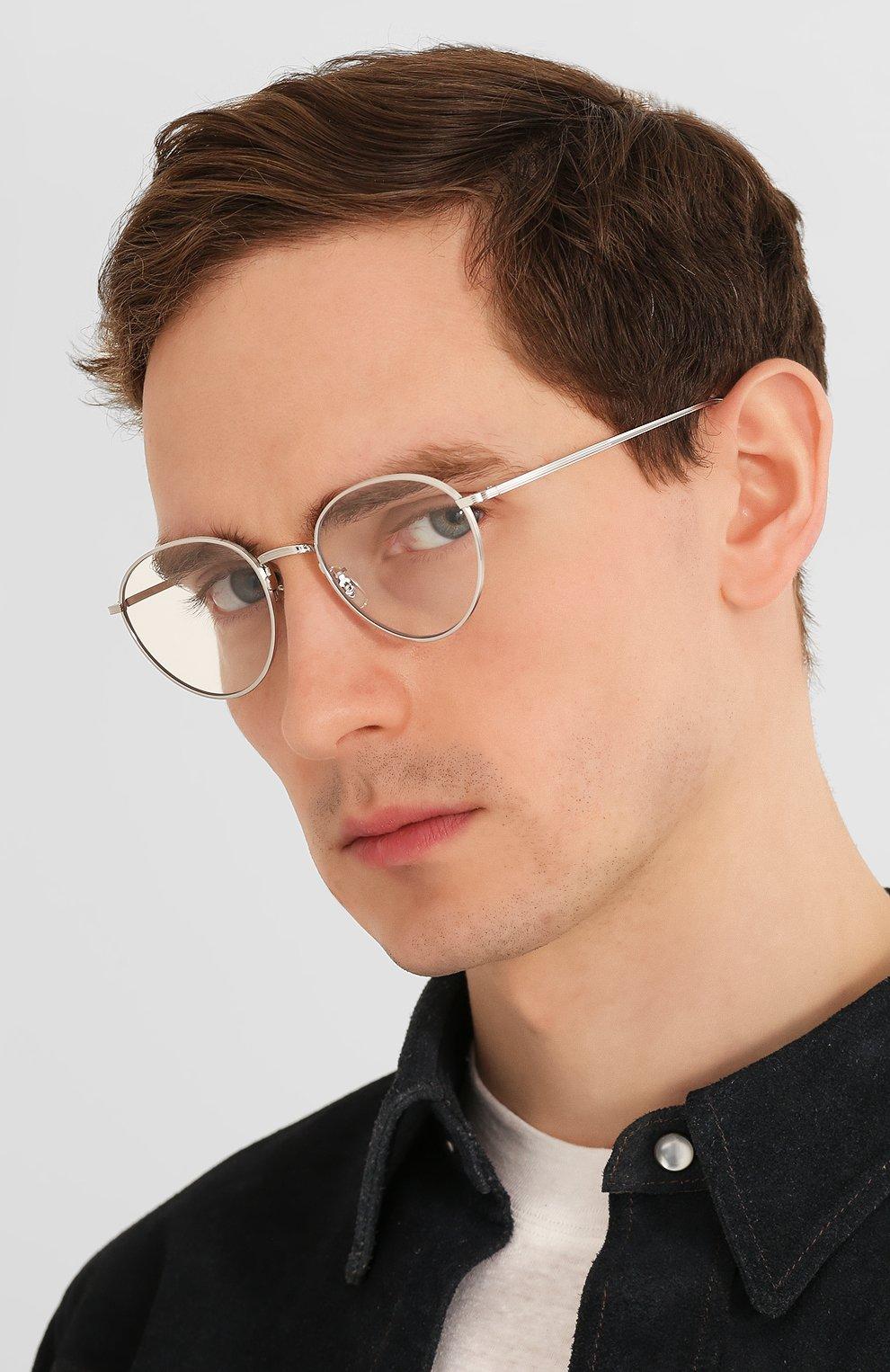 Женские солнцезащитные очки OLIVER PEOPLES серебряного цвета, арт. 1231ST-50361W   Фото 3