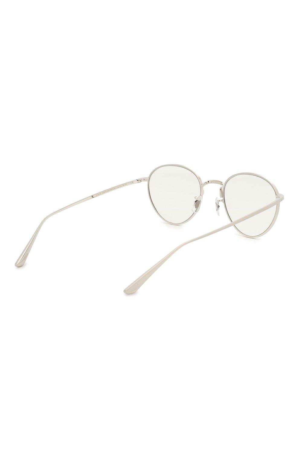 Женские солнцезащитные очки OLIVER PEOPLES серебряного цвета, арт. 1231ST-50361W   Фото 5