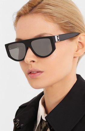 Женские солнцезащитные очки GIVENCHY черного цвета, арт. 7156 003   Фото 2 (Тип очков: С/з; Очки форма: D-форма, Прямоугольные; Оптика Гендер: оптика-женское)