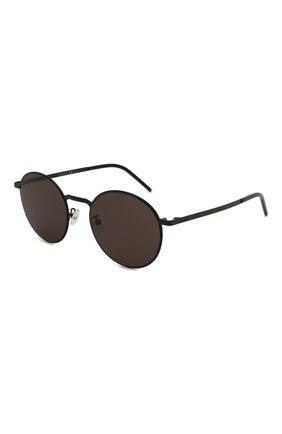 Женские солнцезащитные очки SAINT LAURENT черного цвета, арт. SL 250 SLIM 005 53 | Фото 1