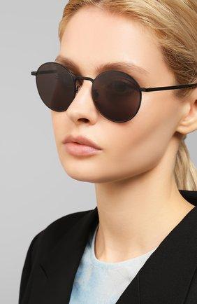 Женские солнцезащитные очки SAINT LAURENT черного цвета, арт. SL 250 SLIM 005 53 | Фото 2