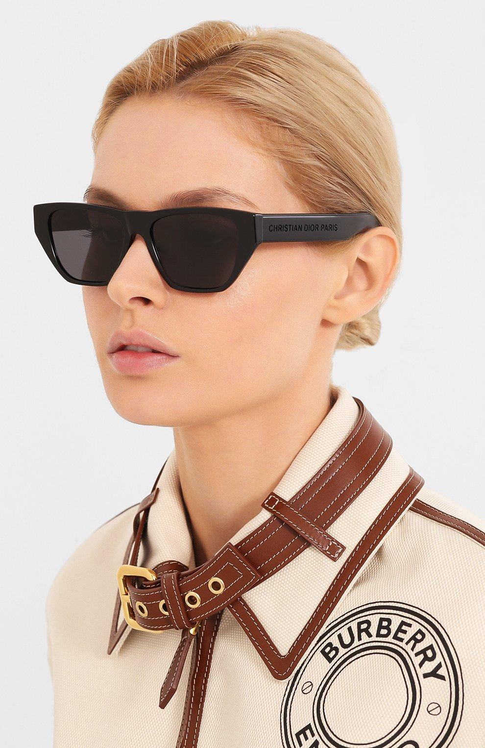 Женские солнцезащитные очки DIOR черного цвета, арт. DI0RINSIDE0UT2 807 | Фото 2