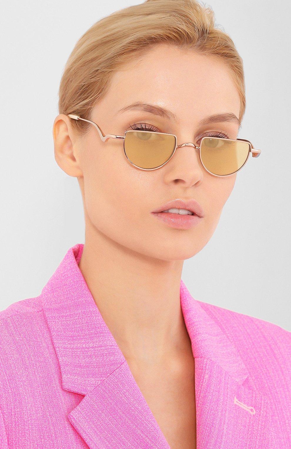 Женские солнцезащитные очки CHLOÉ золотого цвета, арт. 158S-856 | Фото 2