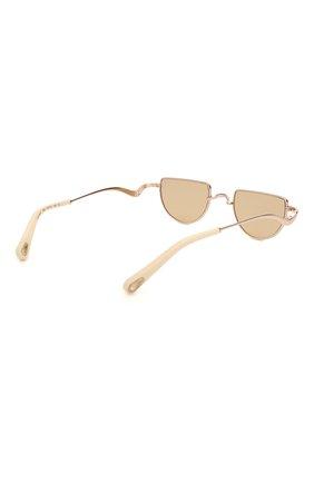 Женские солнцезащитные очки CHLOÉ золотого цвета, арт. 158S-856 | Фото 4